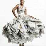 Свадебное платье из газет от Гари Харви