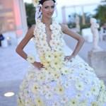 Свадебное платье из ромашек