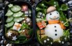 Снеговики в зеленом салате