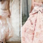 На розовой свадьбы - розовое свадебное платье