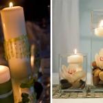 Очень романтично на праздничном столе смотрятся зажженные свечи