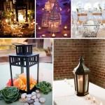 Светильники - отличное решение для украшения праздничного стола