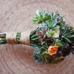 Оригинальное решение для свадебного букета