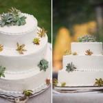 Украшай свадебный торт суккулентами