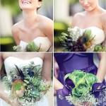 Необычный и изысканный свадебный букет невесты