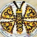 Сделай из блинов бабочку