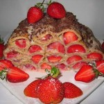 Очень красивое свадебное блюдо, просто даже торт из блинов