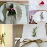 Салфетки на столах тоже могут стать достойным украшением столов