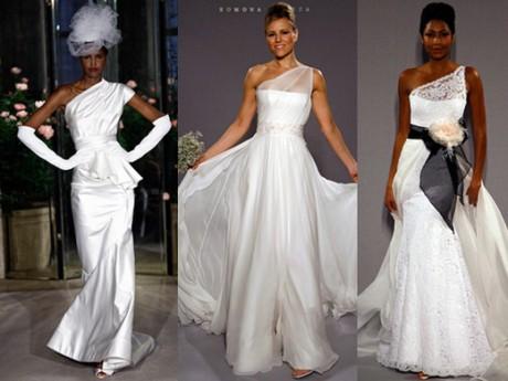 Асимметрия свадебной моды