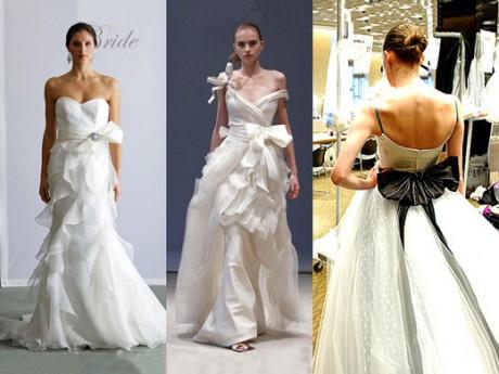 Банты и бантики для свадебных платьев