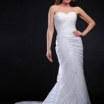 Тотальная драпировка свадебного платья