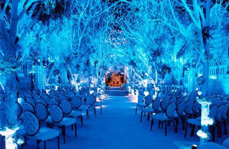 Выездная церемония росписи зимой