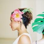Укрась волосы не только цветами, но и листьями
