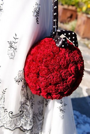 Свадебный букет из гвоздик