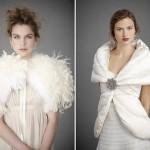Воротник в жакете или перьевой накидке - новое слово в свадебной моде