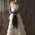 Пояс из легкой полупрозрачной ткани для невесты