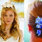 Живыми цветами можно украсить любые аксессуары для волос