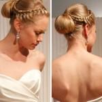 И все волосы присобраны, и вид невеста имеет королевский