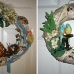 Цветы, зелень и птицы