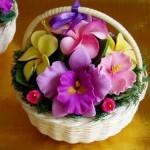 Корзинка с цветами из... мыла