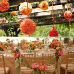 Гирлянды из цветов для украшения всего свадебного зала
