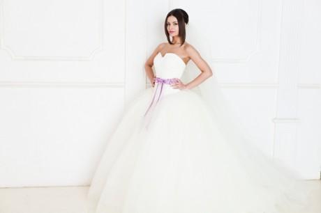 Свадебный макияж и цвет свадебного платья