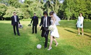 Футбол на свадьбе