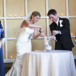 Песочная церемония росписи для жениха и невесты