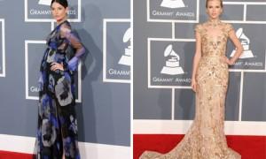 Вечерние платья звезд с Гремми-2012