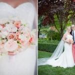 Свадебные персиково-розовые цветы