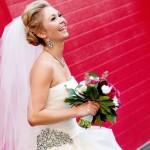 Яркий акцент в образе невесты
