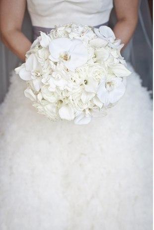 Букет под белое платье