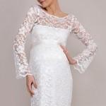 Беременная невеста потрясающе прекрасна