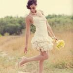 Милый легкий наряд для озорной невесты