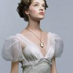 Свадебное платье с рукавами-фонариками
