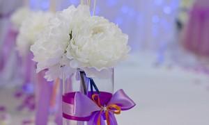 Весенняя свадьба, оформи вазами