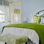 Очень спокойная и благоприятная спальня для молодоженов