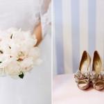 Нежно-золотые туфельки