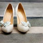 Миниатюрные бантики на туфли