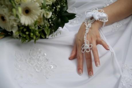 Разнообразие свадебных митенок
