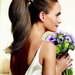Конский хвост для невесты