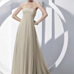 Пастельный тон платья невесты