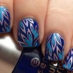 Синие цветы для ногтей свидетельницы