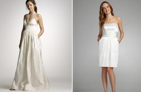 Летние свадебные платья с карманами