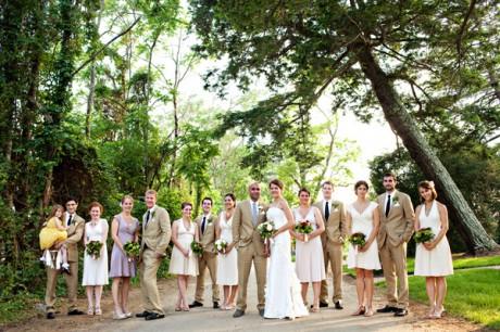 Летняя свадьба на природе