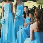 Подружки невесты в голубом