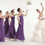Модный оттенок платья подружек невесты