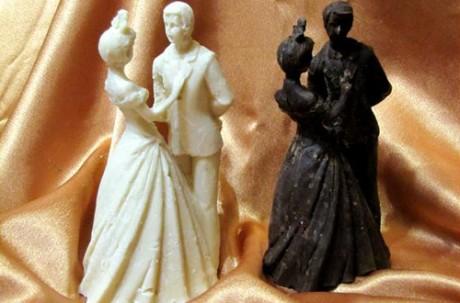 Авторские фигурки жениха и невесты из элитного шоколада