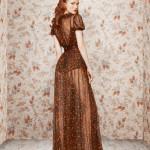 Роскошный коричневый вечерний наряд