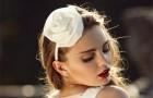Свадебная шляпка-обруч